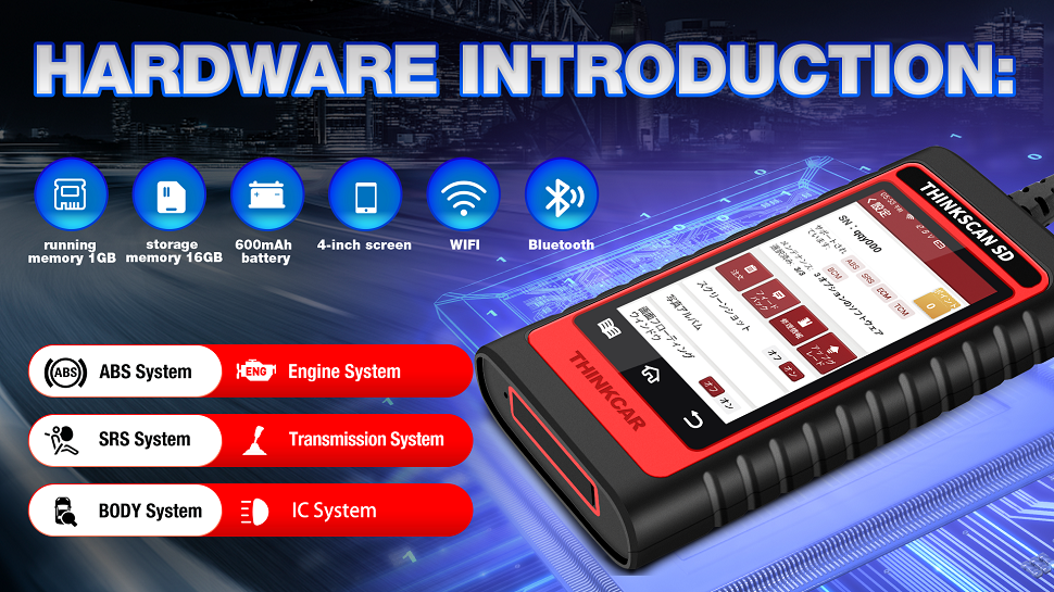 THINKCAR® Thinkscan SD2/SD4/SD6 Multiple Systems OBD2 Scanner