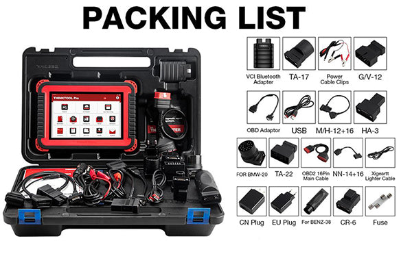 THINKCAR Thinktool Pro Full System Bidirectional Scan Tool,package