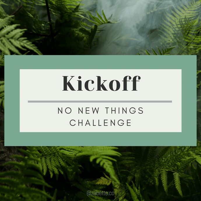 Week 1: No New Things Kickoff