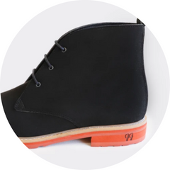 image of black vegan leather chelsea-style boot
