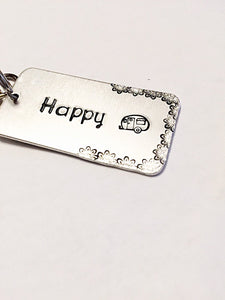 Hand stamped jewelry - Hand stamped key chain - - A Woman Knows Best