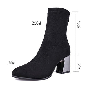 Vintage Women High Heel Shoes Pointed Toe Zipper - A Woman Knows Best