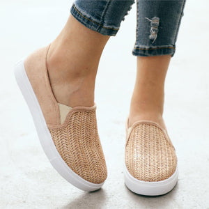 Women Flats Shoes  Sneakers Slip On Flats Leather - A Woman Knows Best