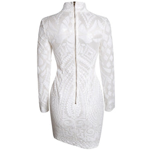 White Sequin Party Dress - A Woman Knows Best