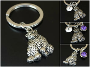 Grizzly Bear Charm Keychain Personalized Gift - A Woman Knows Best