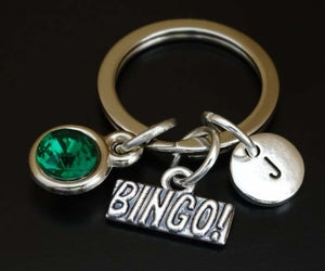 Bingo Charm Keychain Personalized Gift - A Woman Knows Best