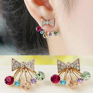 New Fashion Simulated Pearls Pendientes Bijoux Angel Wings Leaf Feather Flowers Stud Earrings for Women Wedding Jewelry Brincos - A Woman Knows Best