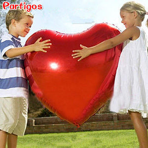 Heart balloon 75cm Red heart shape air party balloons Valentines Day wedding love decorations marriage supplies Foil balloons