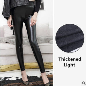 Everbellus High Waist Leather Leggings for Women Black Light&Matt Thin&Thick Femme Fitness PU Leggings Sexy Push Up Slim Pants - A Woman Knows Best