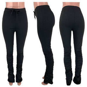 stacked leggings joggers stacked sweatpants women ruched pants legging jogging femme stacked pants women sweat pants  trousers - A Woman Knows Best