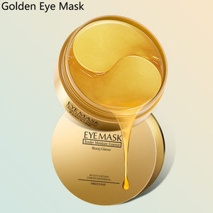 60 Pieces Golden Collagen Mask Lady Natural Moisturizing Gel Eye patches Remove Dark Circles Anti Age Bag Eye Wrinkle Skin Care - A Woman Knows Best