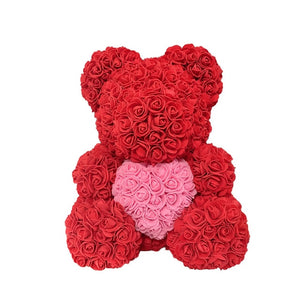 2021 40cm Rose Bear Heart Artificial Flower Rose Teddy Bear For Women Valentine's Wedding Birthday Christmas Gift - A Woman Knows Best