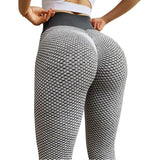 CHRLEISURE Grid Tights Yoga Pants Women Seamless High Waist Leggings Breathable Gym Fitness Push Up Clothing Girl Yoga Pant - A Woman Knows Best