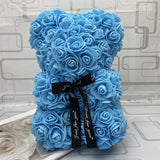 25cm/40cm Teddy Rose Bear Artificial Flower Rose of Bear Christmas Decoration for Home Valentines Women Gifts - A Woman Knows Best