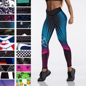 Qickitout 12%spandex Sexy High Waist Elasticity Women Digital Printed Leggings Push Up Strength Pants - A Woman Knows Best