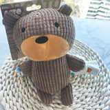 Brown Teddy Bear Soft Plush Dog Squeaky Bite Toy for Chew Tooth Cleaning Small Middle Big Size Pet - A Woman Knows Best