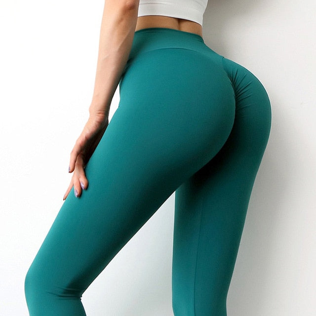 SOISOU New Yoga Pants Women Leggings For Fitness Nylon High Waist Long Pants Women Hip Push UP Tights Women Gym Clothing - A Woman Knows Best
