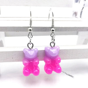 1 Pair of Cute Resin Gummy Bear Earrings Women's 33 Colors Candy Animal  Girl Jewelry Gift Pendant - A Woman Knows Best