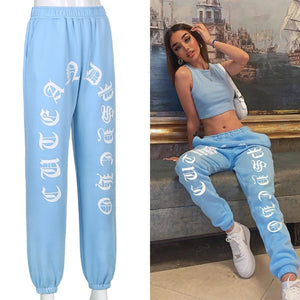 Rockmore Harajuku Joggers Wide Leg SweatPants Women Trousers Plus Size High Waist Pants Streetwear Korean Casual Pant Femme Fall - A Woman Knows Best