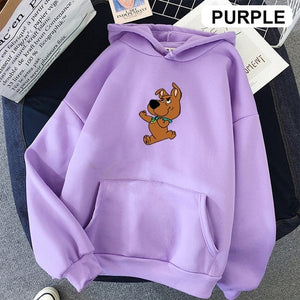 Fashion Harajuku Autumn Hoodies Women Flower Cartoon Printed Loose Korean Hooded Sweatshirt Streetwear Long Sleeve Pullovers - A Woman Knows Best