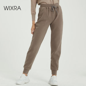 Wixra Women Casual Velvet Pants Winter Lady's Thick Wool Pants Women's Clothing Lace-up Long Trousers - A Woman Knows Best
