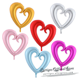 18/30/40inch Giant Hollow Heart Shape Foil Balloons for Valentines day/Wedding Party decoration big size red heart helium globos