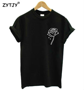 rose flower pocket Print Women tshirt Cotton Casual Funny t shirt For Lady Top Tee Hipster Tumblr Drop Ship Z-970 - A Woman Knows Best