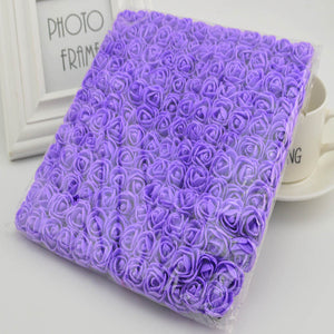 144pcs 2cm MINI foam roses for home Wedding fake Flower Decora Scrapbooking diy wreath gift box cheap Artificial Flower Bouquet - A Woman Knows Best