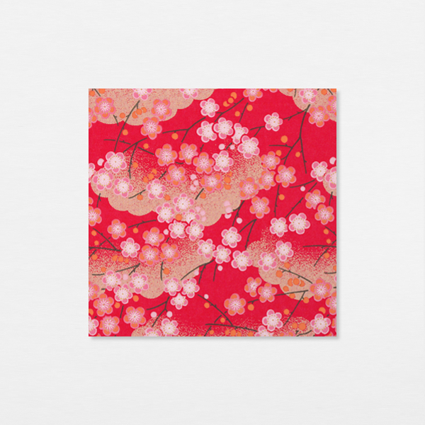 Washi 15cm - Pruniers rouges