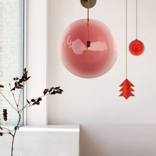 Suspension Sapin - Rouge