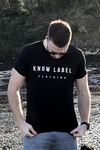 Men's Black Chest Print Organic Cotton T-Shirt
