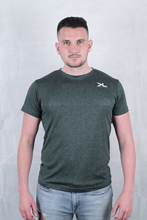 Men's Forest Green Performance T-Shirt