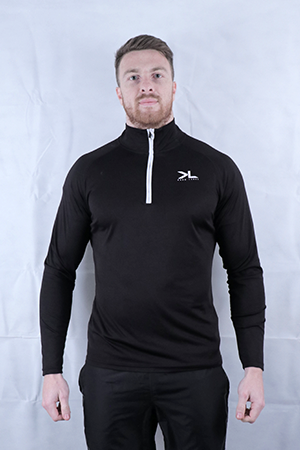 Men's Onyx/White Performance Midlayer Top