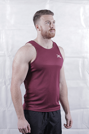 Men's Burgundy Performance Vest