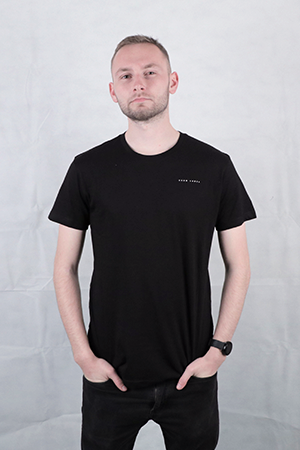 Men's Black Organic Cotton T-Shirt