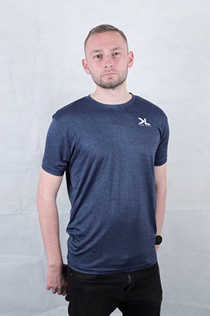 Men's Petrol Blue Performance T-Shirt
