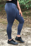Women's Blue Wash Seamless Leggings