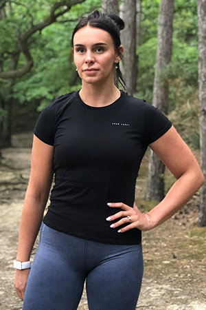 Women's Black Organic Cotton T-Shirt