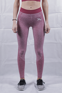 Women's Burgundy Seamless Leggings