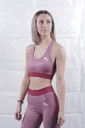 Women's Burgundy Seamless Sports Bra