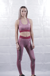 Burgundy Seamless Leggings and Sports Bra Deal