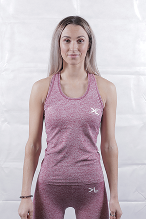 Women's Burgundy Seamless Vest