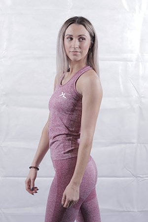 Burgundy Seamless Leggings and Vest Deal