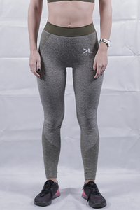 Women's Olive Seamless Leggings