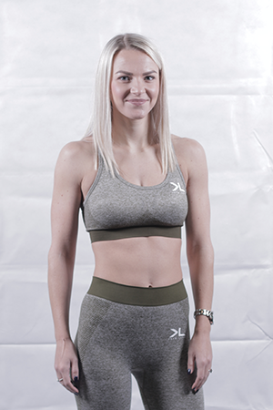 Women's Olive Seamless Sports Bra