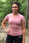 Women's Pink Organic Cotton T-Shirt