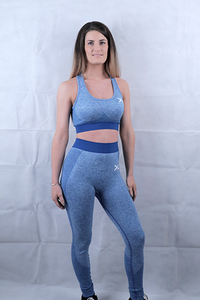 Sapphire Blue Seamless Leggings and Sports Bra Deal