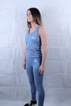 Sapphire Blue Seamless Leggings and Vest Deal