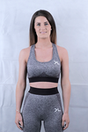 Women's Charcoal Seamless Sports Bra