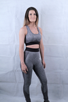 Charcoal Seamless Leggings and Sports Bra Deal